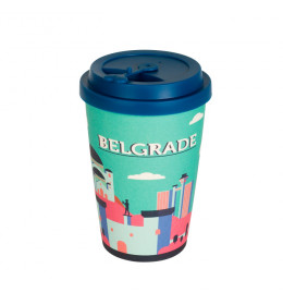 "BigBamBoo Suvenir šolja  ""BELGRADE CITY SHAPES"" 500ml"